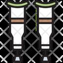 Crippled Crutch Medical Icon