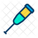 Crutches Leg Stick Icon
