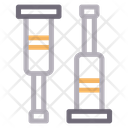 Crutches Medical Help Icon