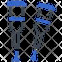 Broken Crutches Disabled Icon