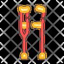 Crutches Tool Color Icon