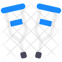 Crutches Mobility Aid Walking Sticks Icon