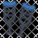 Crutches Disabled Broken Icon