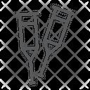 Crutches Crutch Injury Icon