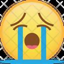 Cry Sob Emoji Icon