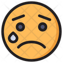 Cry Emoji Expression Icon