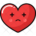 Set Heart Icon Emogi Emotion Icon