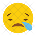 Cry Emotion Expression Icon
