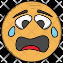 Crying Baffled Smiley Icon