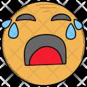 Baffled Emotion Crying Icon