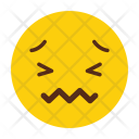 Disgusted Crying Emoji Icon
