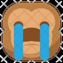 Sob Crying Monkey Icon