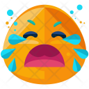 Loud Cry Emoji Icon