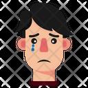 Crying Boy Cry Sad Icon