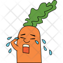 Crying Carrot Icon