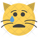 Crying Cat Face Icon