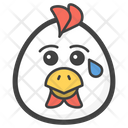 Crying Chicken Icon