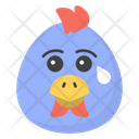 Crying chicken Face Icon