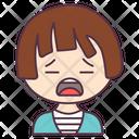Cute Boy Kid Crying Child Icon