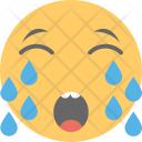 Weeping Crying Emoticon Icon