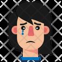 Girl Sad Crying Girl Icon