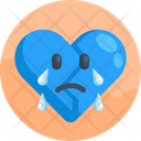 Crying Heart Icon