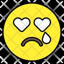 Crying Heart Eyes Emoticon Smiley Icon