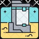 Cryogenic Chamber Hypersleep Space Chamber Icon