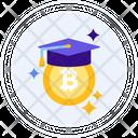 Crypto Education Graduation Cap Bitcoin Icon
