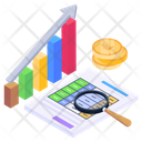 Growth Chart Growth Graph Financial Chart Icon