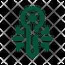 Crypto Key Key Digital Icon