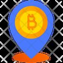 Crypto Location Bitcoin Location Bitcoin Placeholder Icon