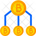 Crypto Structure Bitcoin Flow Hierarchy Icon