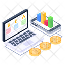 Online Business Business Display Online Analytics Icon