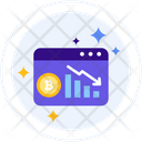 Cryptocurrencies Going Down Cryptocurrencies Down Icon