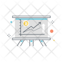 Cryptocurrencies Graph Icon