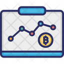 Cryptocurrencies Statistics Cryptocurrencies Value Chart Cryptocurrencies Value Graph Icon