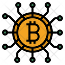 Cryptocurrency Bitcoin Digital Cash Icon