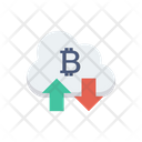 Cloud Bitcoin Cryptocurrency Icon