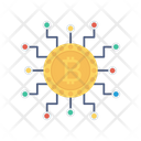 Bitcoin Cryptocurrency Saving Icon