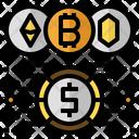 Cryptocurrency Bitcoin Ethereum Icon