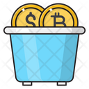 Bitcoin Currency Basket Icon