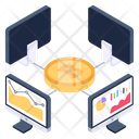 Digital Currency Bitcoin Business Online Business Icon