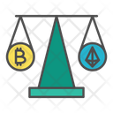 Cryptocurrency comparison Icon