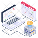 Cryptocurrency Connection Blockchain Network Bitcoin Network Icon