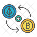 Cryptocurrency Exchange Transaction Icon