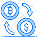Cryptocurrency Exchange Money Conversion Bitcoin Transfer Icon