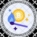 Bitcoin Crypto Heater Cryptocurrency Icon