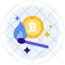 Cryptocurrency Heater Icon