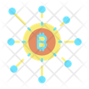 Bitcoin Network Cryptocurrency Network Bitcoin Connection Icon